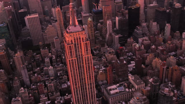 luftaufnahme von new york city - international landmark stock-videos und b-roll-filmmaterial