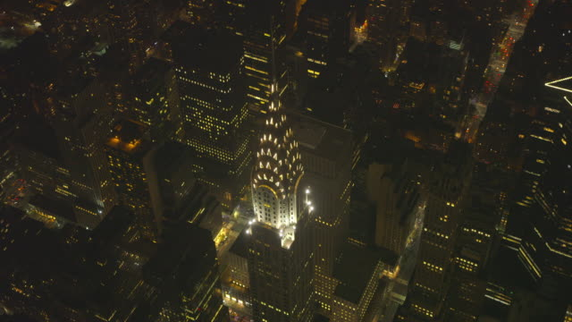 new york city air_146 - chrysler building stock videos & royalty-free footage