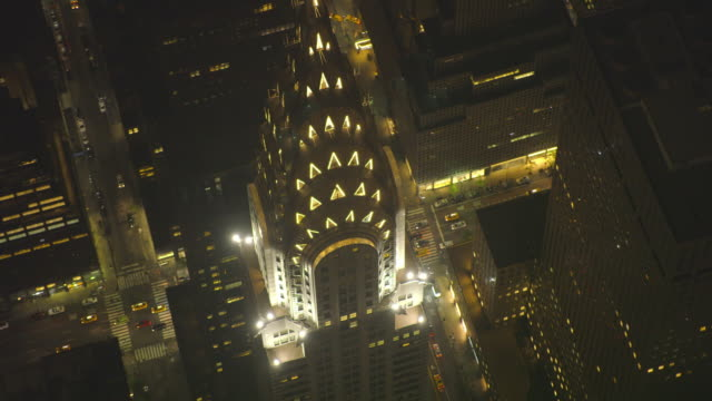 new york city air_151 - chrysler building stock videos & royalty-free footage