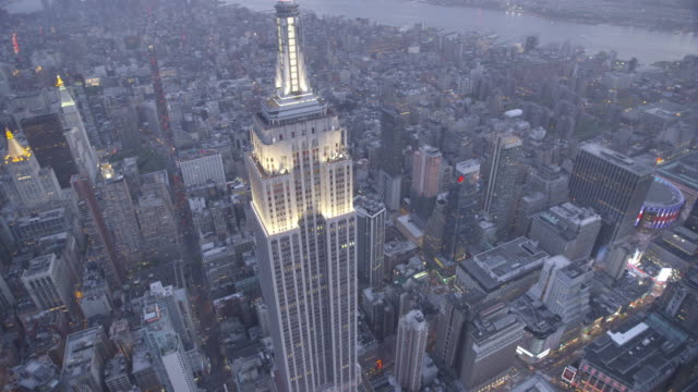 new york city air_73 - empire state building stock videos & royalty-free footage