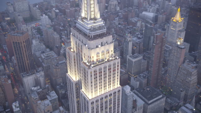 new york city air_74 - empire state building stock videos & royalty-free footage
