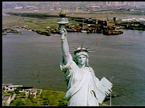 1967 - new york city and its environs, 1 of 11 - statue of liberty new york city stock videos & royalty-free footage