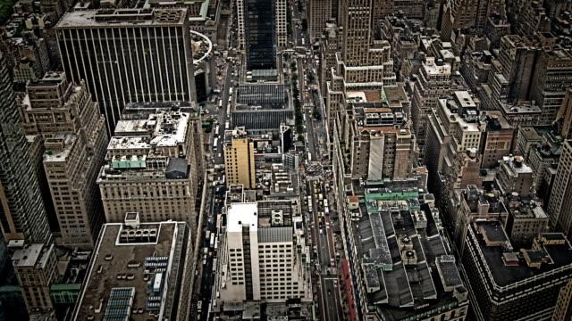 ニューヨーク市建物、オーバヘッド空から見た風景