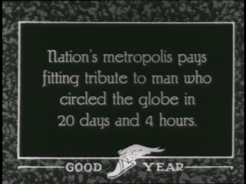 new york city citizens throw a ticker tape parade for a man who circled the globe in twenty days. - ticker tape stock videos and b-roll footage