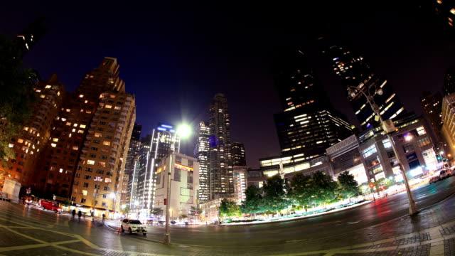 new york city: columbus circle - columbus circle stock videos & royalty-free footage