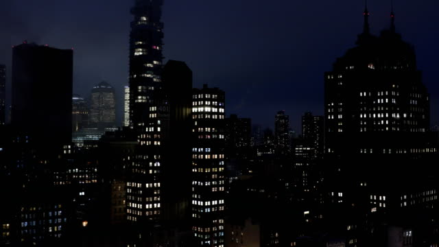 new york city downtown nights - tribeca stock videos & royalty-free footage