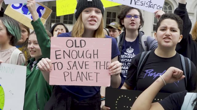 new york city elected officials opposing the williams northeast supply enhancement fracked gas pipeline. new yorkers and student youth climate... - campaigner stock videos & royalty-free footage