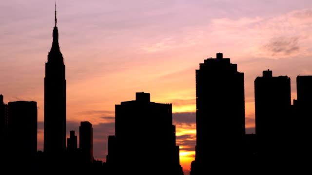 ny エンパイアの夕日 - エンパイアステートビル点の映像素材/bロール