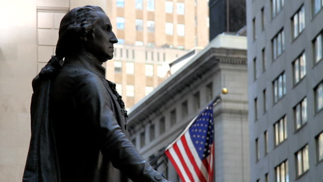 new york city george-washington-statue - george washington stock-videos und b-roll-filmmaterial