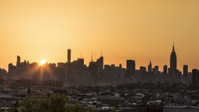 new york city in the morning - 固定撮影点の映像素材/bロール