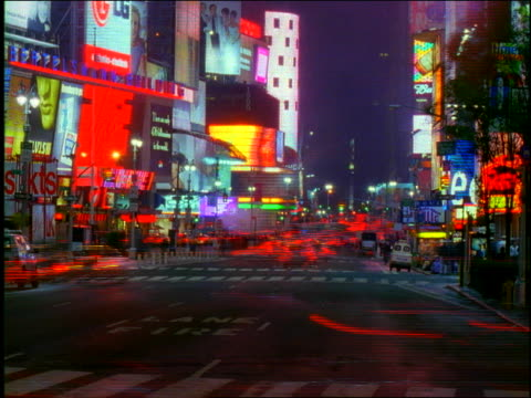 new york city lights (time lapse) - unknown gender stock videos and b-roll footage