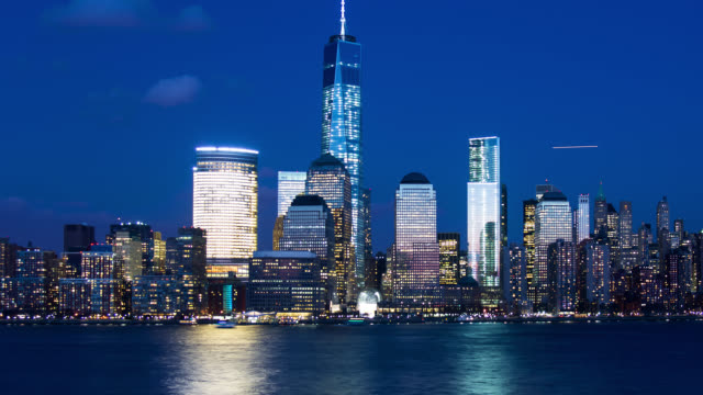T/L ZO New York City Lower Manhattan skyline day to night to day