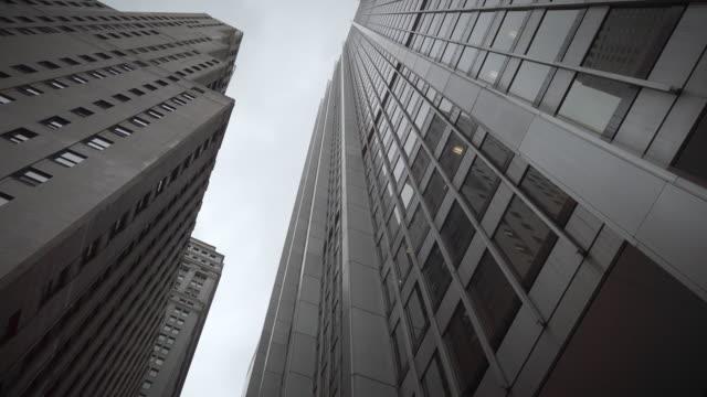 new york city lower manhattan skyscrapers - facade stock videos & royalty-free footage