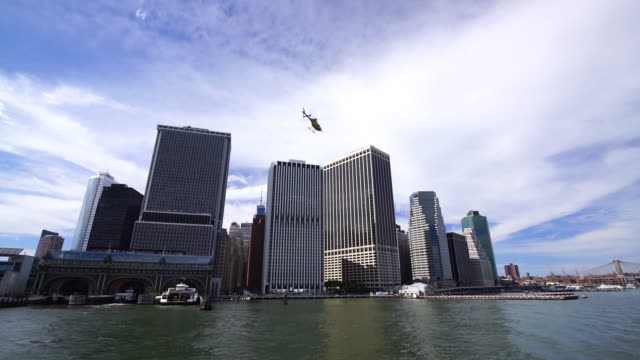 new york city manhattan downtown - new york stato video stock e b–roll