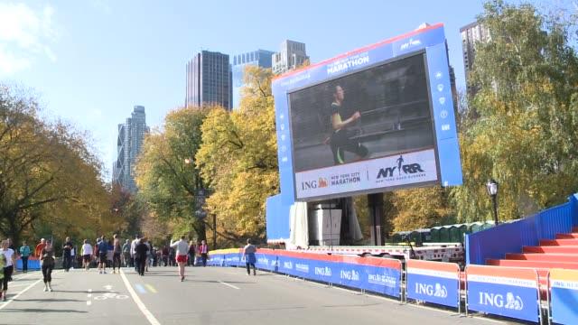New York City Marathon Preparations at Central Park on November 02 2013 in New York New York
