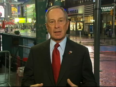new york city mayor michael bloomberg comments on the times square bomb plot and how it was thwarted the mayor states everything is speculation at... - crime or recreational drug or prison or legal trial stock videos & royalty-free footage
