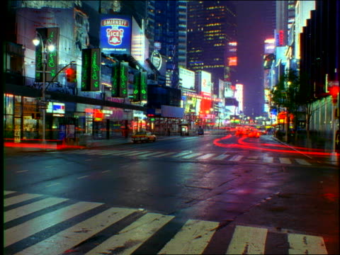 new york city on rainy night (time lapse) - unknown gender stock videos & royalty-free footage