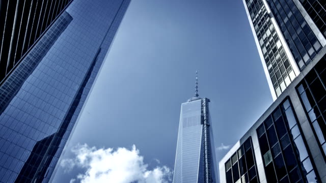 new york city, one world trade center - freedom tower - month stock videos & royalty-free footage