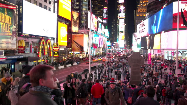 new york city point of view times square pov people - times square manhattan stock videos & royalty-free footage