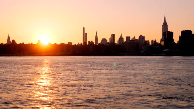 new york city skyline: downtown waterfront - hudson river stock videos & royalty-free footage