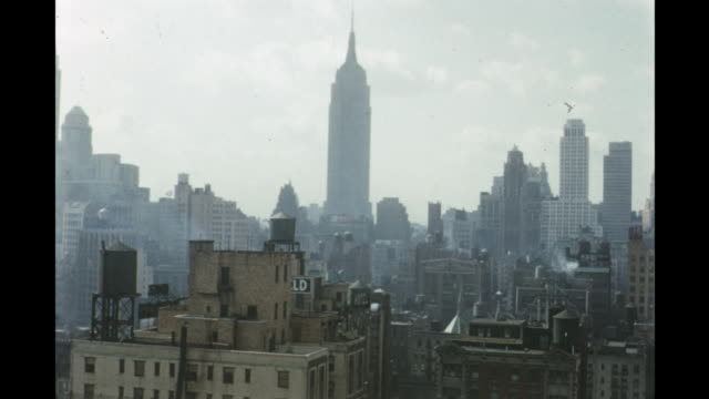1954 montage new york city skyline, new york, usa - 1954 stock videos and b-roll footage