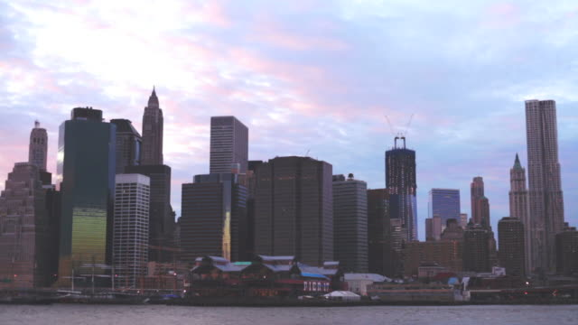 New York City Skyline timelapse evening