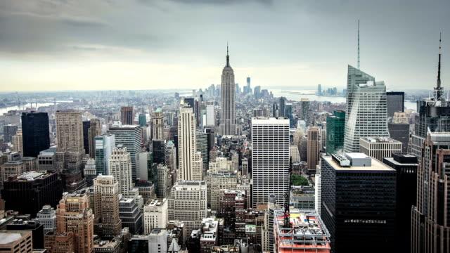 hd: new york city skyline timelapse - rockefeller centre stock videos & royalty-free footage