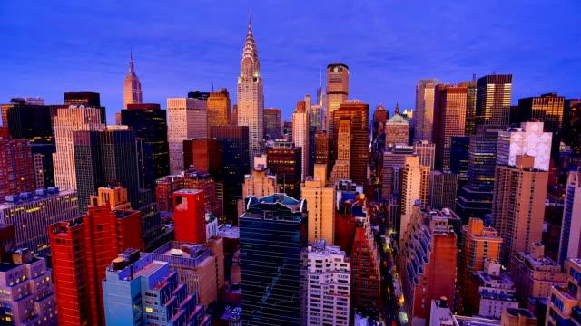 ニューヨーク市のスカイライン - エンパイアステートビル点の映像素材/bロール