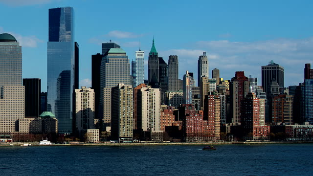 new york city skyline - tribeca stock videos & royalty-free footage