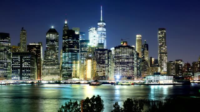 new york city skyline - world trade centre manhattan stock videos and b-roll footage