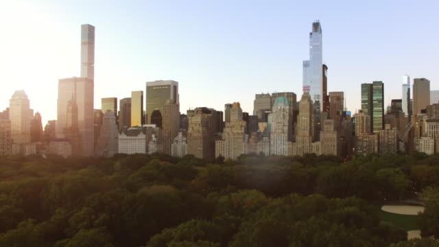 new york city skyline view. urban metropolis cityscape background