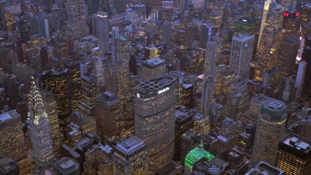 new york city skyline view. urban metropolis cityscape background - metlife hochhaus stock-videos und b-roll-filmmaterial