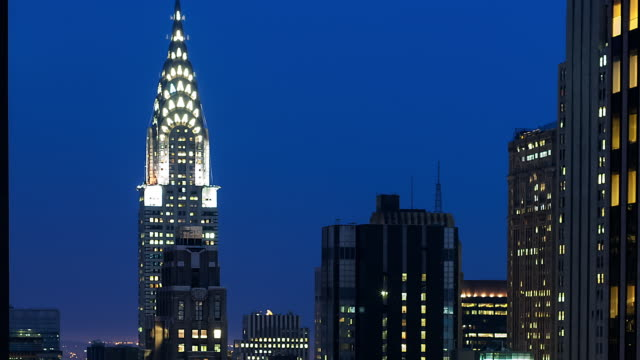 new york city skyscrapers - chrysler building stock videos and b-roll footage
