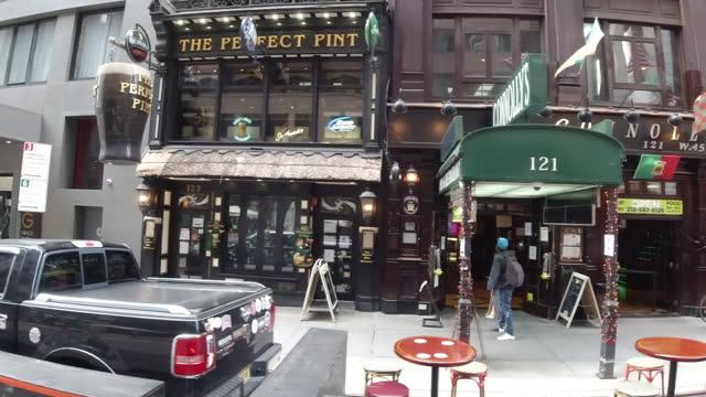 new york city slowly re-opens - pavement video stock e b–roll