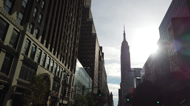 new york city slowly re-opens - empire state building stock videos & royalty-free footage