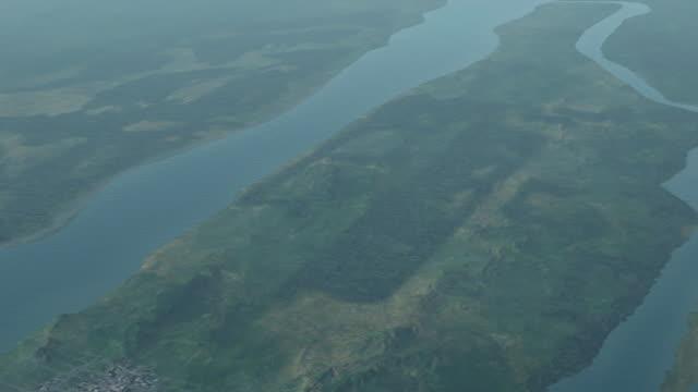 new york city spreads over the island of manhattan. - manhattan video stock e b–roll