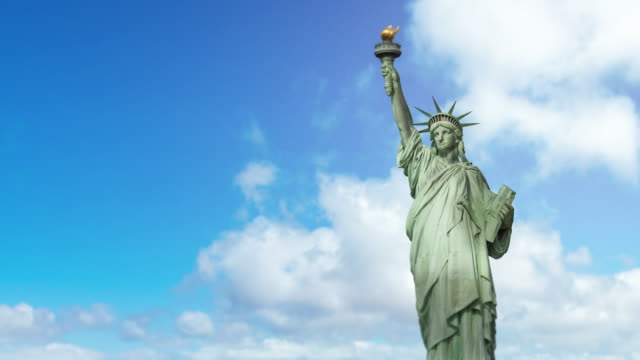 nyc new york city - statue of liberty - 4k - statue of liberty new york city stock videos & royalty-free footage