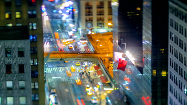 new york city streets - tilt shift stock videos and b-roll footage