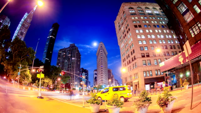 new york city streets - flatiron building manhattan stock videos and b-roll footage