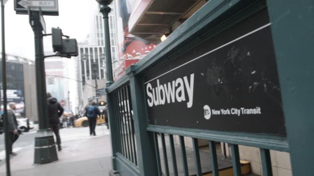 new york city subway station - new york city subway stock videos & royalty-free footage
