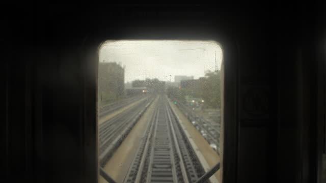 new york city subway train window and track - new york city subway stock videos & royalty-free footage