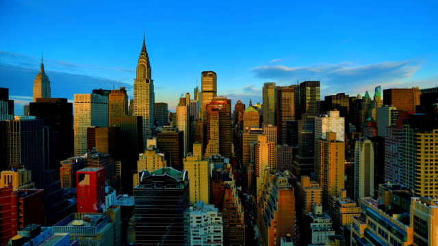 new york city sunrise - manhattan new york city stock videos & royalty-free footage