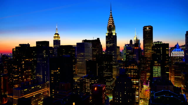 New York City sunset time lapse: 4K