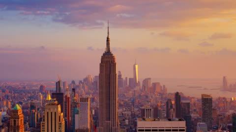 vídeos y material grabado en eventos de stock de nueva york: puesta del sol (de día a noche) - estado de nueva york