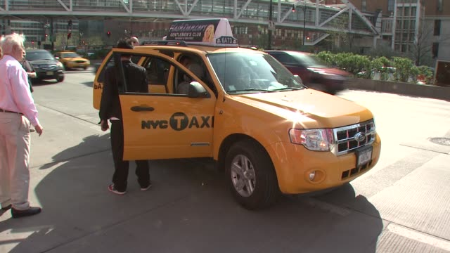 New York City taxis at the 7th Annual Tribeca Film Festival I Am Because We Are Premiere at Borough of Manhattan Community College / Tribeca...