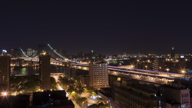 vídeos de stock, filmes e b-roll de new york city time laps of lower manhattan looking south at three bridges, manhattan, brooklyn and verrazano. total of three days and two nights. - time lapse do dia para a noite