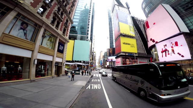 new york city time lapse - electronic billboard stock videos and b-roll footage