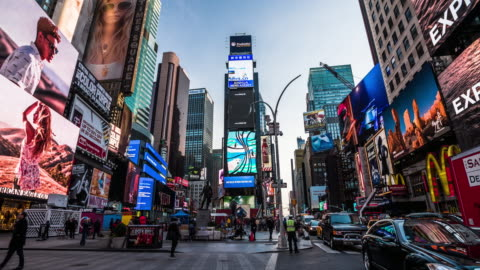 new york city times square - times square manhattan stock videos & royalty-free footage