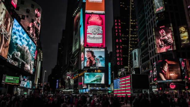 new york city, times square - broadway manhattan stock videos & royalty-free footage