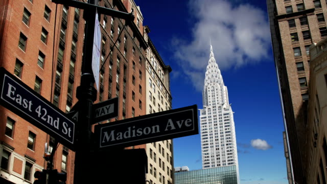 new york city - chrysler building stock-videos und b-roll-filmmaterial